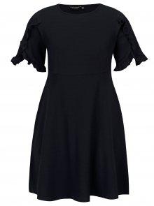 Tmavě modré šaty s volánky Dorothy Perkins Curve