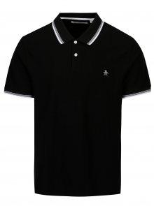 Černé polo tričko s bílými detaily Original Penguin