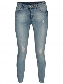 Světle modré džíny s potrhaným efektem VILA Commit