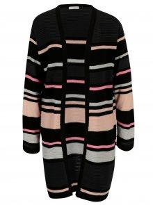 Černo-růžový pruhovaný kardigan Jacqueline de Yong Tint