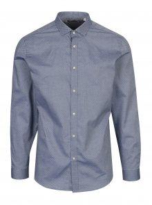 Světle modrá vzorovaná slim fit košile Jack & Jones Premium Samson