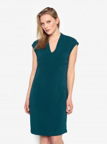 Petrolejové šaty s véčkovým výstřihem Selected Femme Ninna