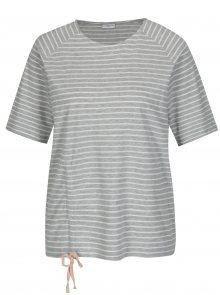 Světle šedé pruhované tričko Jacqueline de Yong Buzz