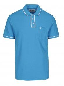 Modré polo tričko s náprsní kapsou Original Penguin Earl