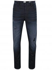 Tmavě modré slim fit džíny s potrhaným efektem ONLY & SONS Loom