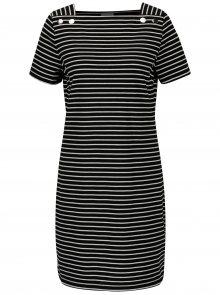 Černé pruhované šaty VILA Sonja