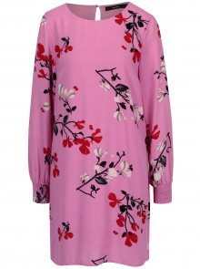 Růžové květované šaty VERO MODA Hallie