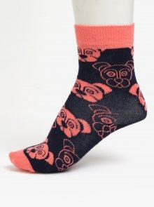 Tmavě modré dětské ponožky s motivem psů Happy Socks Dog