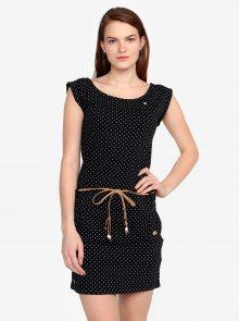Černé puntíkované šaty s páskem Ragwear Tag Dots