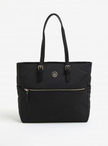 Černá kabelka s detaily ve zlaté barvě Tommy Hilfiger
