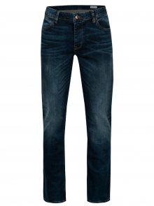 Tmavě modré pánské straight fit džíny Cross Jeans Dylan