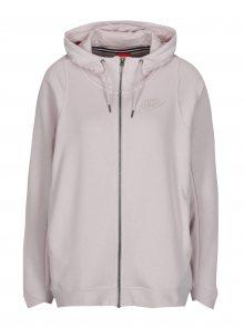 Světle růžová dámská oversize mikina na zip Nike