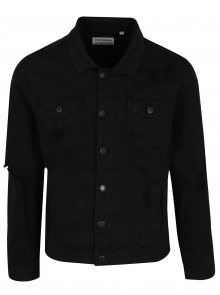 Černá džínová bunda s potrhaným efektem Shine Original