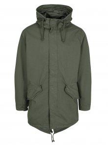 Zelený kabát s kapucí Jack & Jones New Bento