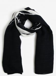 Černo-bílý pruhovaný šátek Calvin Klein Jeans