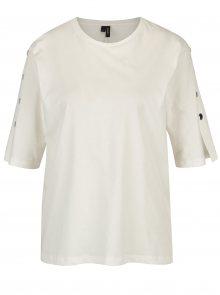 Bílé tričko s kovovými detaily VERO MODA Jane
