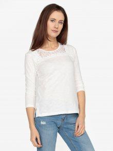 Krémové tričko s krajkovými detaily M&Co