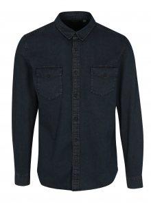 Tmavě modrá džínová slim košile ONLY & SONS Negredo