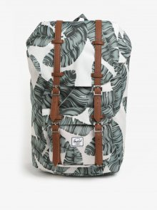 Zeleno-krémový vzorovaný batoh Herschel Little America 25 l
