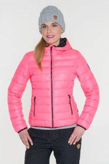Sam 73 Dámská bunda s kapucí a kontrastními zipy Sam 73 růžová světlá M