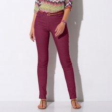 Blancheporte Strečové kalhoty v zeštíhlujícím střihu purpurová 36