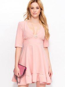 Makadamia Dámské šaty_dirty pink\n\n