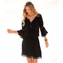 Blancheporte Macramé šaty černá 36