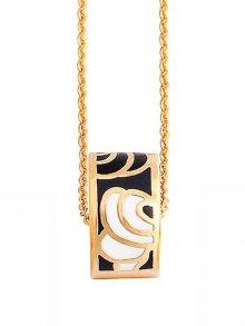 Rose Salome Jewels Dámský náhrdelník BN009S_BLACK  gEY TAUPE WHITE