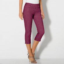 Blancheporte Korzárské kalhoty v zeštíhlujícím střihu purpurová 36