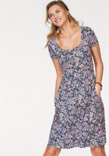 CHEER Letní šaty, Cheer tm.modrá-bílá-růžová-potisk - Normální délka (N) 34