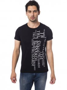 Trussardi Collection Pánské tričko M4 CENTO_Nero/Black