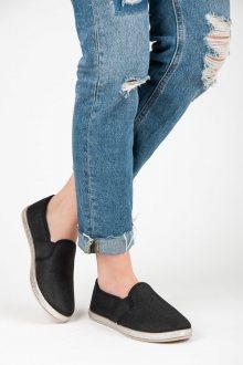 Textilní černé nazouvací tenisky