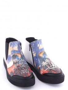 Streetfly Dámské kotníkové boty SNK207_Printed - Colourful