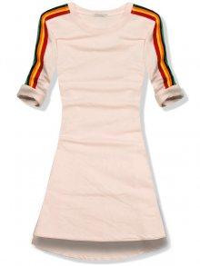 Pudrové šaty/tunika
