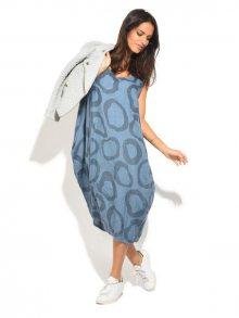 Lin Blanc Dámské lněné šaty 6737 - ROBE BARBARA P8420 JEAN