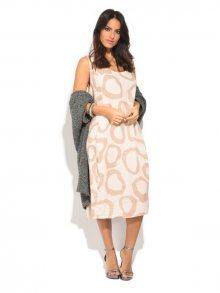 Lin Blanc Dámské lněné šaty 6737 - ROBE BARBARA P8420 ROSE