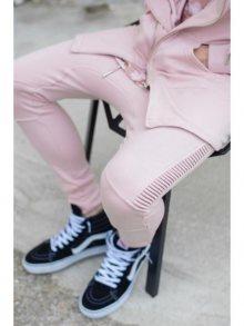 Tepláky Biker růžová M