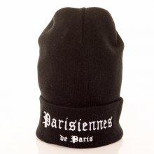 Zimní čepice Bonnet Parisiennes de Paris Femme černá Standardní