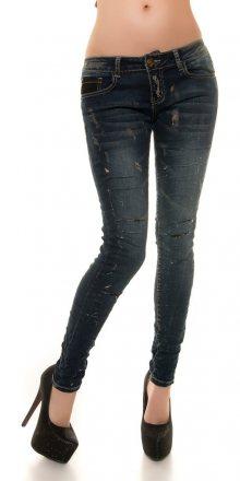 Koucla Moderní džíny s děrováním