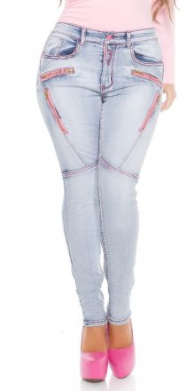 Koucla Dámské skinny džíny plus size