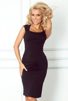 Numoco Černé elegantní šaty 53-9A