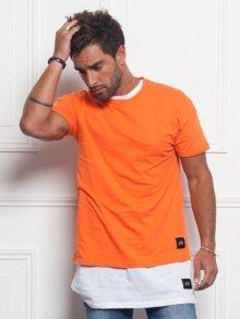 Tričko Dropped Shoulders oranžová S