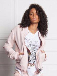 Bunda Femme Suede Oversized růžová M