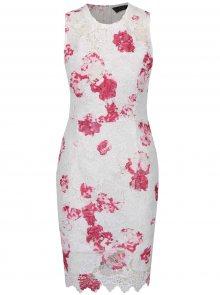 Bílé krajkové květované šaty AX Paris