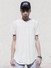 Tričko Zip Chiné béžová M