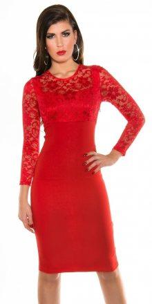 Koucla Červené dámské šaty
