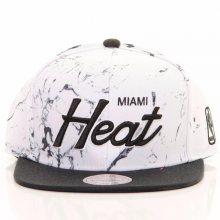 Snapback NBA Miami Heat bílá Standardní