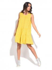 Couleur Lin Dámské šaty 6734 - TUNIQUE RAQUEL PA323 MOUTARDE