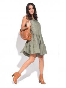 Couleur Lin Dámské šaty 6734 - TUNIQUE RAQUEL PA323 KAKI