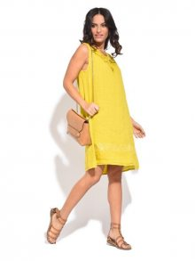 Couleur Lin Dámské šaty 6734 - ROBE MARLENE P6806 MOUTARDE